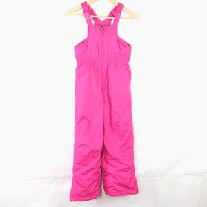 Faded Glory Girl Kid Pink Winter Overalls Snow